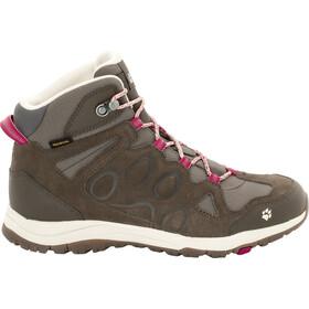 Jack Wolfskin Rocksand Texapore Mid-Cut Schuhe Damen dark ruby